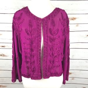 Chicos Travelers Bolero Crop Jacket Size 3 XL